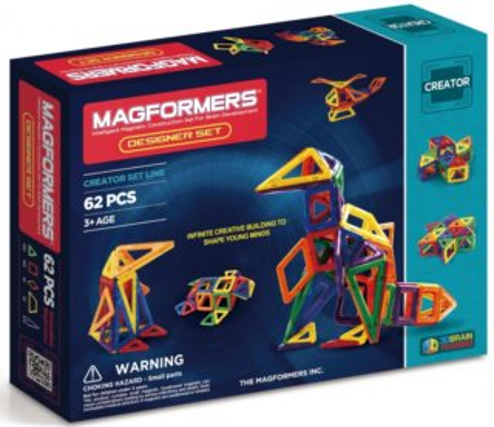 Magnetická stavebnice MAGFORMERS Designer Set 62 dílků