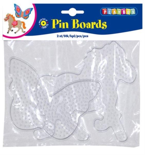 PLAYBOX Destičky pro zažehlovací korálky - motýl a kůň