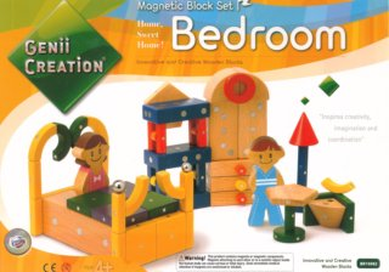Magnetická stavebnice Genii Creation - Dětská ložnice