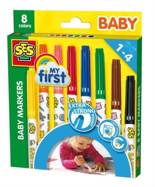 SES Dětské fixy - 8 barev