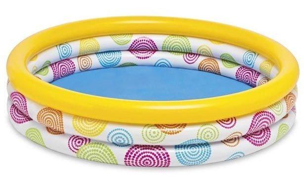 INTEX Dětský bazén s barevným spirálami 114 cm