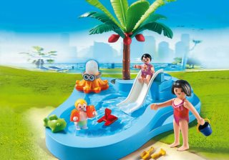 Dětský bazén se skluzavkou 6673