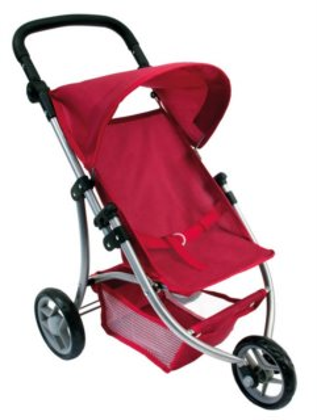 BINO 82914 Dětský kočárek červený tříkolový