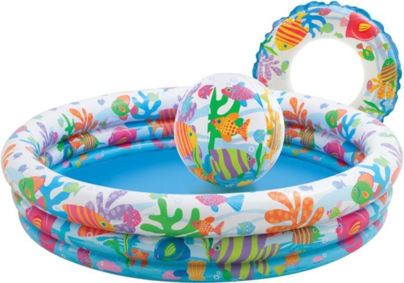 Dětský set INTEX: Bazén + kruh + balón