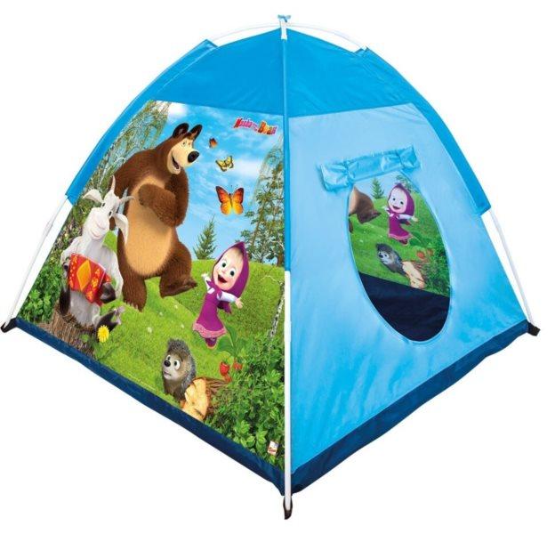 BINO Dětský stan na hraní Máša a medvěd
