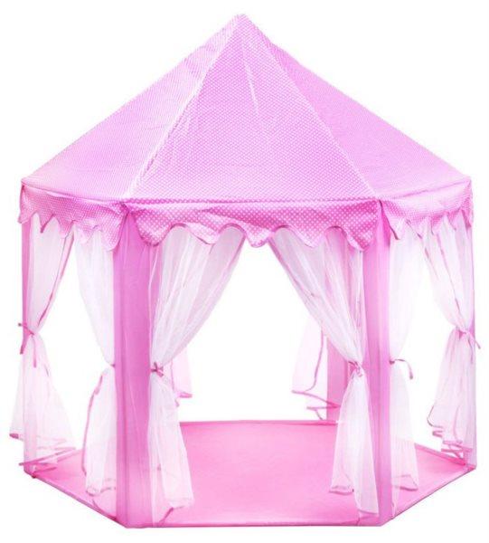 PIXINO Dětský stan na hraní Princeznin palác růžový