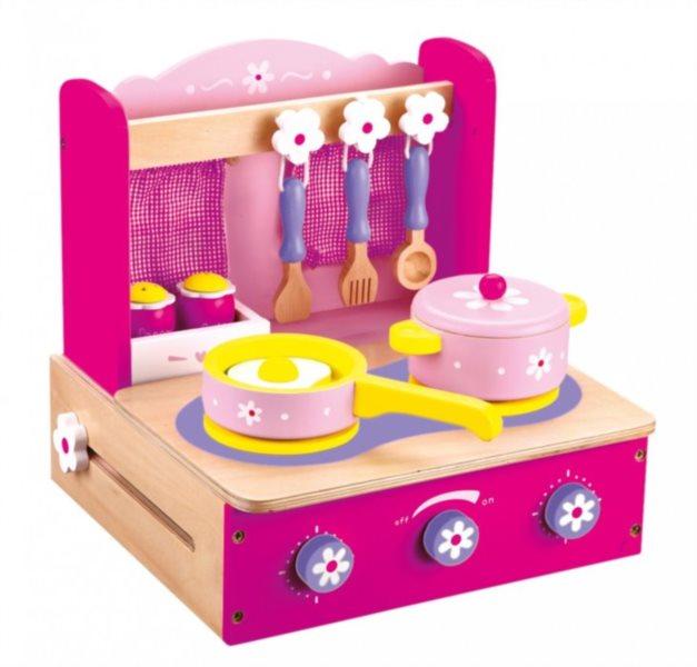 Dětský vařič s příslušenstvím, růžový