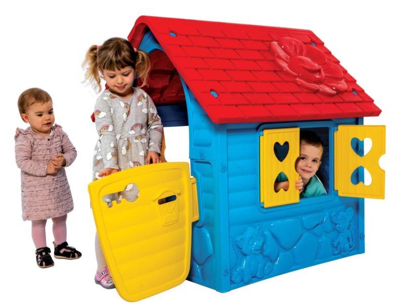 Dětský zahradní domeček červeno-modrý