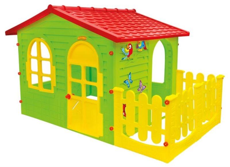 MOCHTOYS Dětský zahradní domeček zelený s plotem