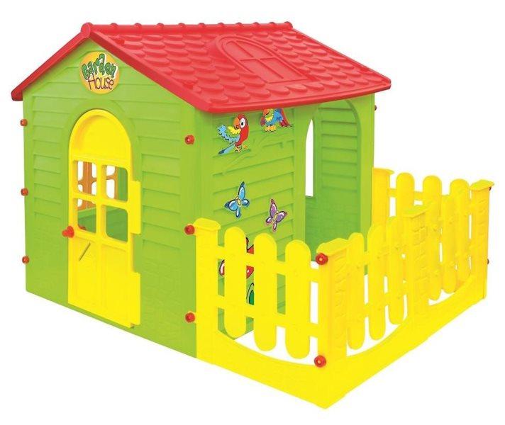 MOCHTOYS Dětský zahradní domeček zelený s terasou