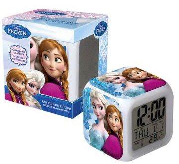 Svítící digitální hodiny Ledové království