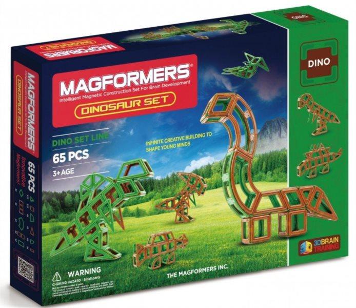 Magnetická stavebnice MAGFORMERS Dinosauři 65 dílků
