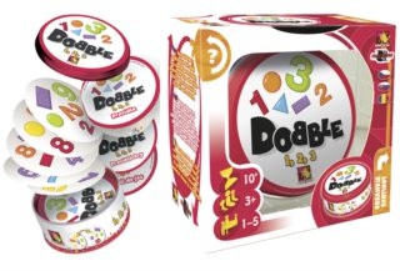 Rodinná zábavní hra Dobble 1-2-3