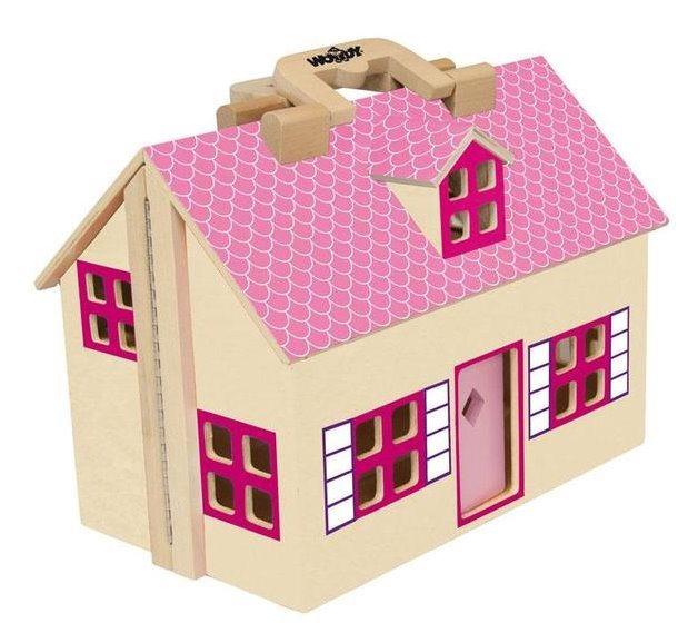 WOODY, Domeček pro panenky - kufřík
