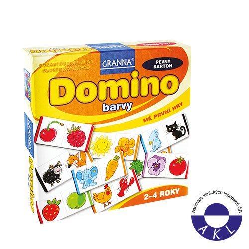 Dětská hra GRANNA Domino barvy