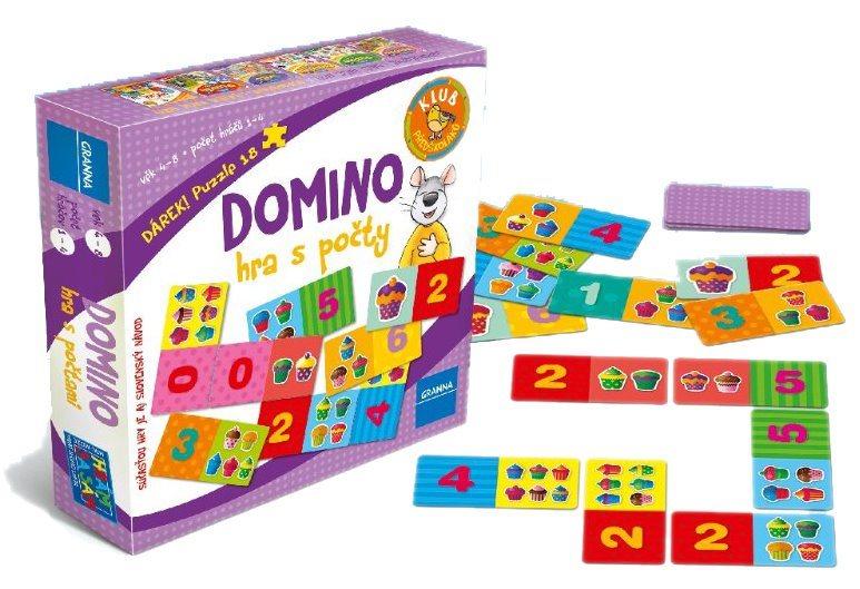 Vzdělávací hra GRANNA Domino – Hra s počty