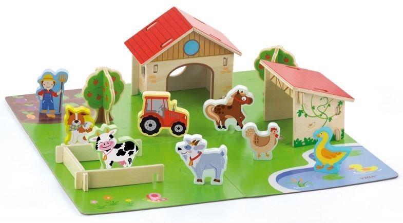VIGA Dřevěná farma 3D