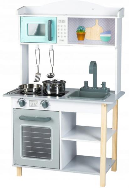 ECOTOYS Dřevěná kuchyňka s příslušenstvím