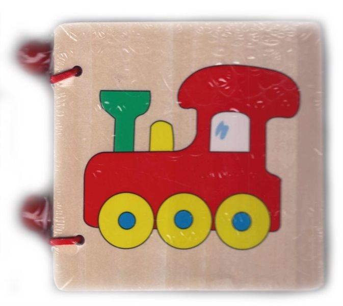 BINO Dřevěná obrázková knížka - Doprava