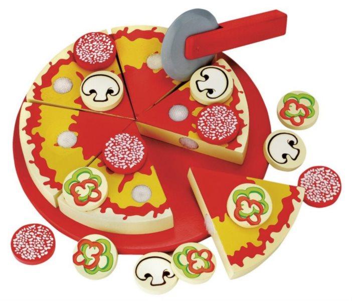 BINO 83412 Dřevěná pizza na krájení