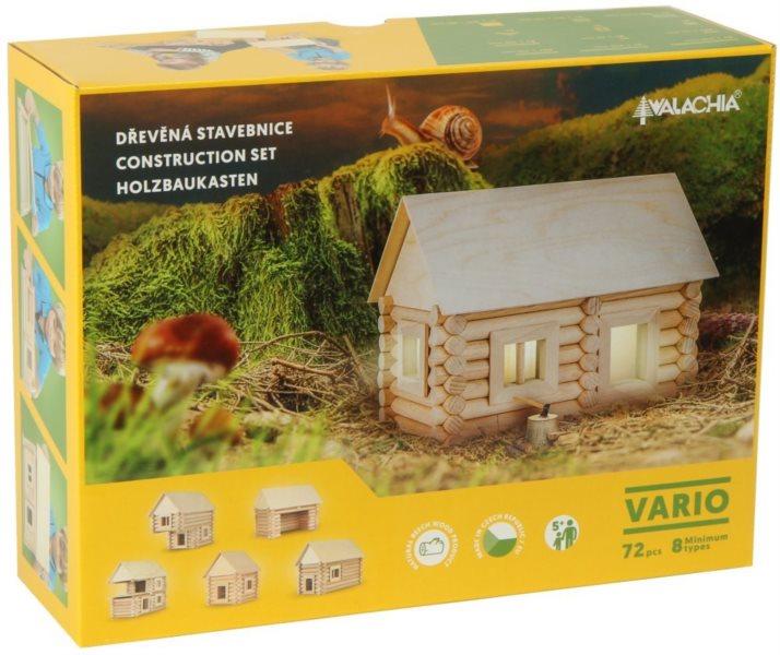WALACHIA Dřevěná stavebnice: Vario 72 dílů