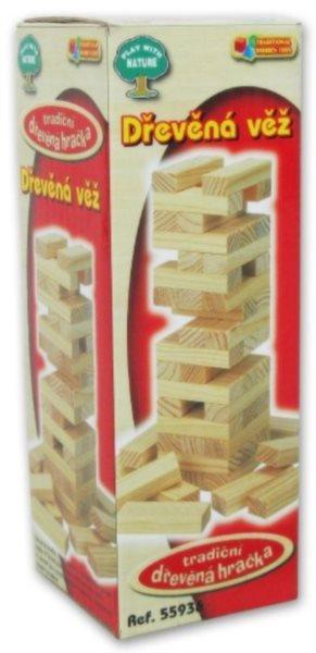 Rodinná hra Dřevěná věž mini 13,5 cm