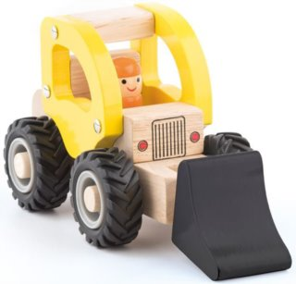 Dřevěné autíčko WOODY Bagr