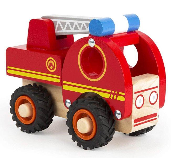 SMALL FOOT Dřevěné autíčko Hasiči