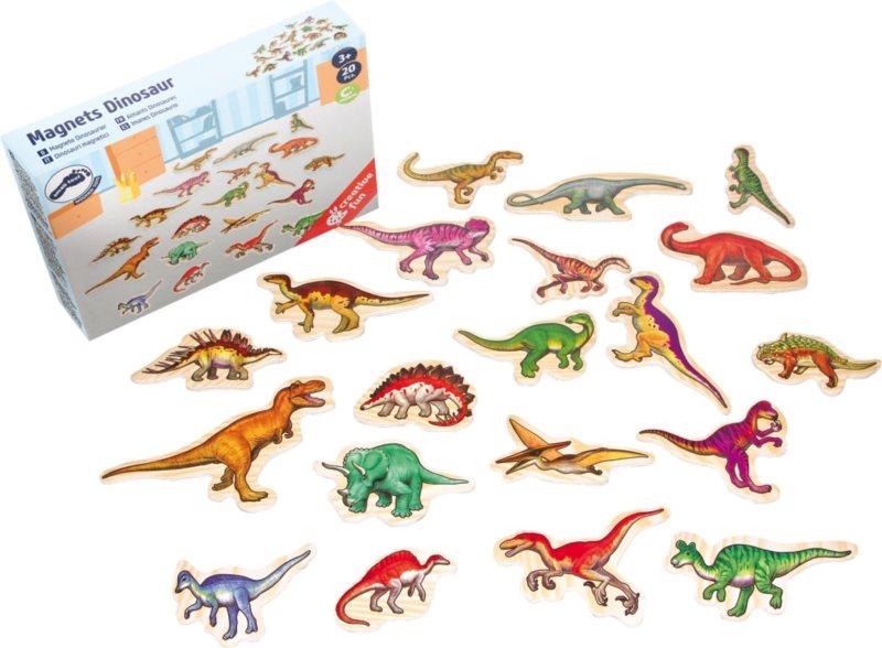 SMALL FOOT Dřevěné magnetky - dinosauři