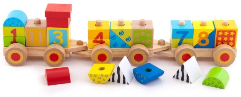 TREFL Dřevěný edukativní vláček s čísly