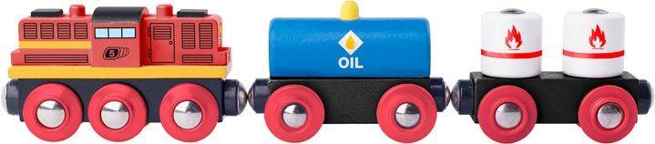 WOODY Nákladní vlak s dieselovou lokomotivou