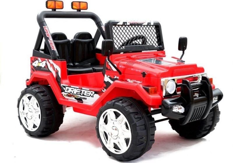 LEAN TOYS Elektrické auto Jeep Raptor červené