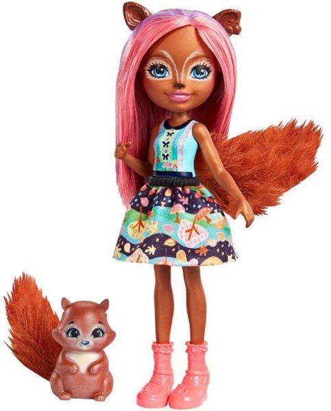 MATTEL Enchantimals Sancha Squirrel & Stumper