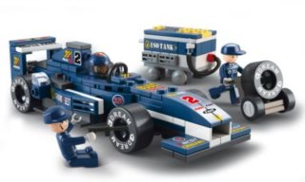 Stavebnice SLUBAN F1 Mini Formule modrá 1:32