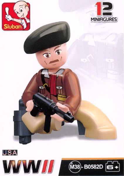 Stavebnice SLUBAN Figurka Americký voják
