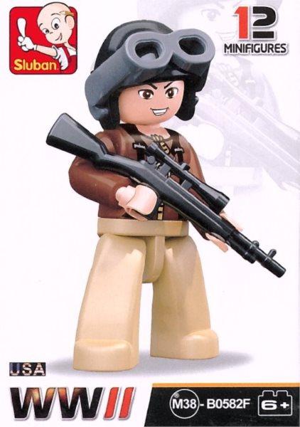 Stavebnice SLUBAN Figurka Americký odstřelovač