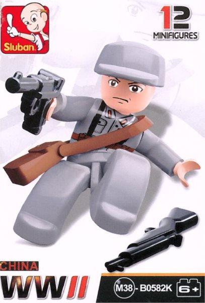Stavebnice SLUBAN Figurka Čínský důstojník