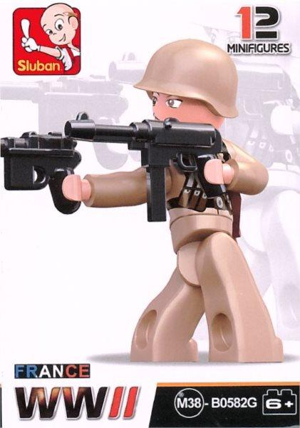 Stavebnice SLUBAN Figurka Francouzský důstojník