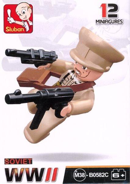 Stavebnice SLUBAN Figurka Sovětský důstojník
