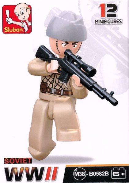 Stavebnice SLUBAN Figurka Sovětský odstřelovač
