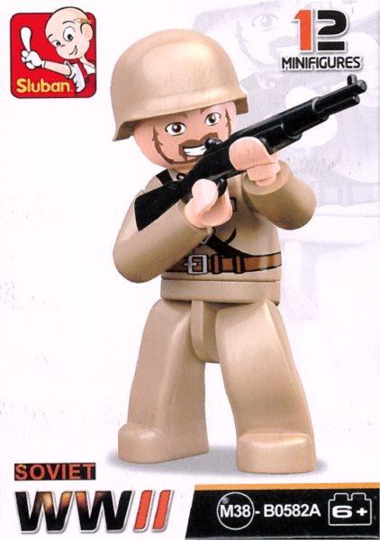 Stavebnice SLUBAN Figurka Sovětský voják s puškou