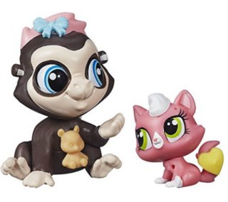 Littlest Pet Shop - Figurka Terrence Konga s miminkem