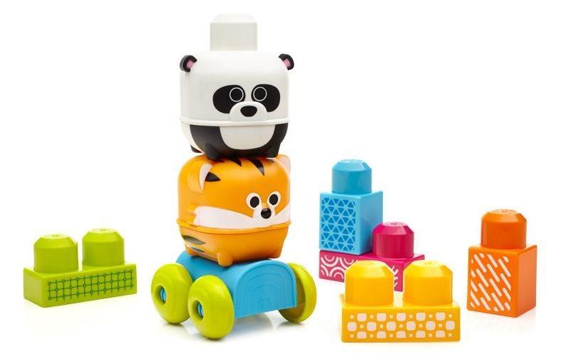 MEGA BLOKS First Builders Jezdící zvířátka - Panda a tygr