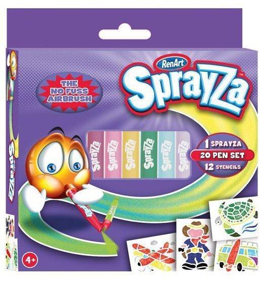 RenArt Fixy SprayZa 20-Pen & Stencil Pack