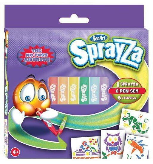 RenArt Fixy SprayZa 6-Pen & Stencil Pack