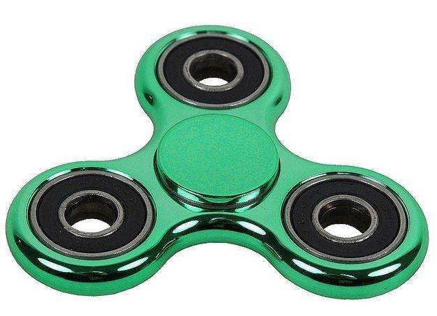 Spinner chromovaný zelený