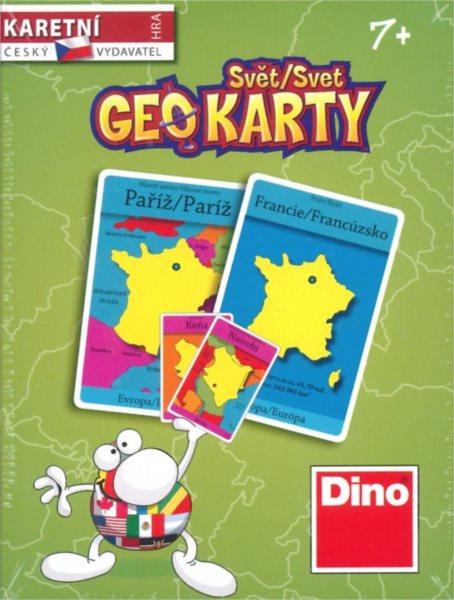 Společenská hra Geo karty Svět, DINO