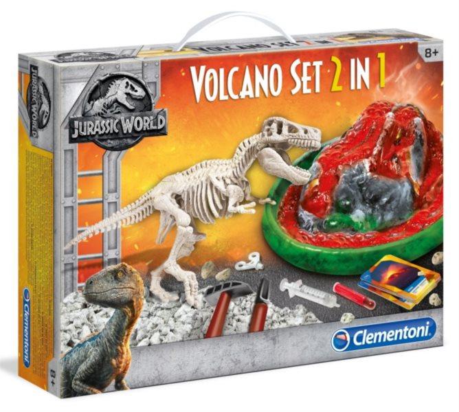 CLEMENTONI Jurský svět: Sopka 2v1