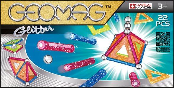 Magnetická stavebnice GEOMAG - Glitter 22 dílků