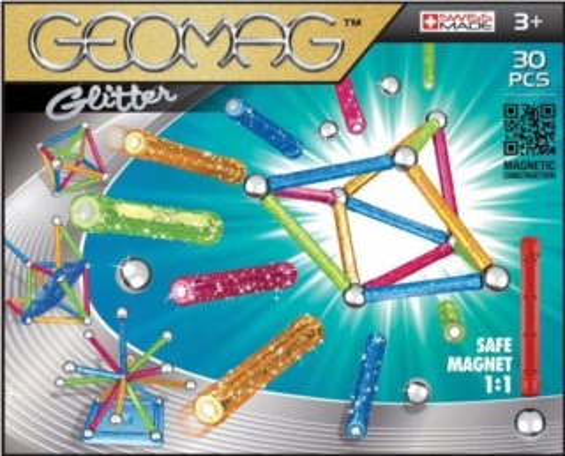 Magnetická stavebnice GEOMAG - Glitter 30 dílků
